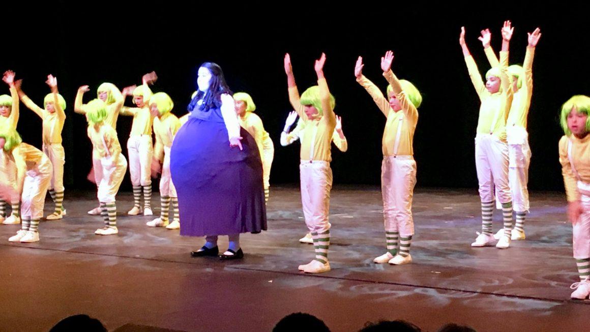 Violet Beauregarde On-Stage Inflation