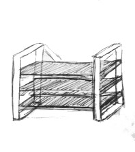 Sketch of Shelving Design