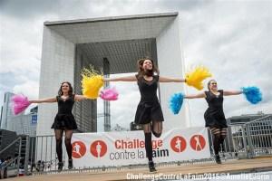 ChallengeContreLaFaim2015- show pom pom girls la défense paris