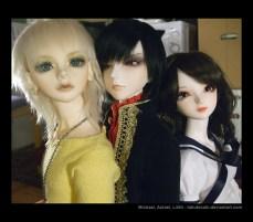Michael, Azrael, Lilith.