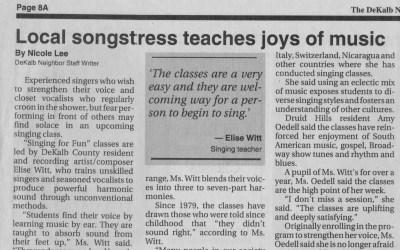 Dekalb Neighbor | Local songstress teaches joys of music