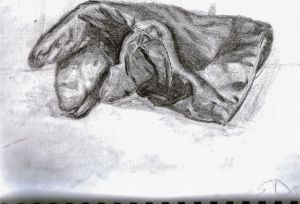 simple glove sketch