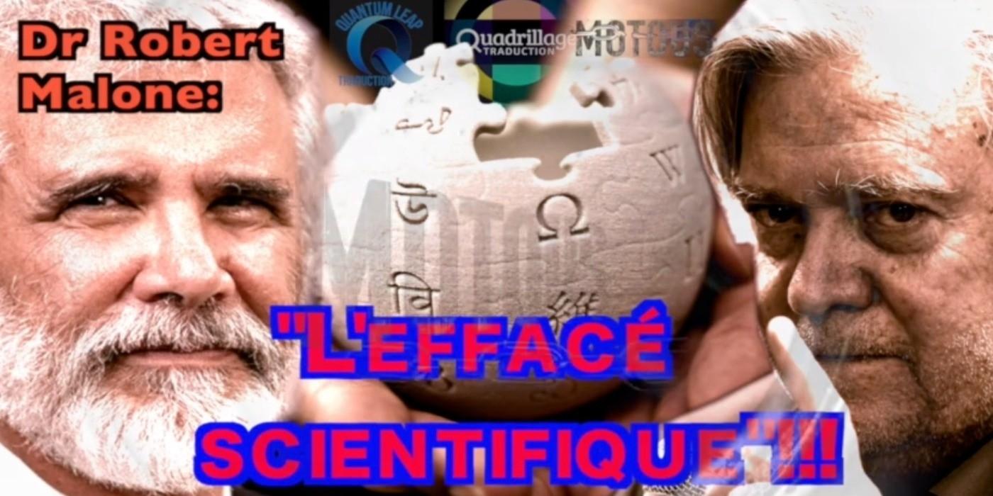 """Dr R. Malone Inventeur des vaccins ARNm – """"Je suis en train d'être effacé de l'histoire"""""""