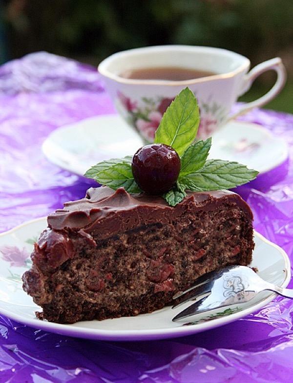 """Супер-рецепты с фото как приготовить торт """"Пьяная вишня"""""""