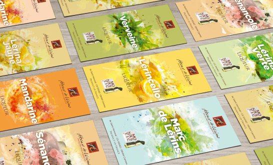 Planches d'étiquettes des liqueurs de l'abbaye de lérins