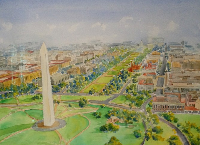 National Mall aerial