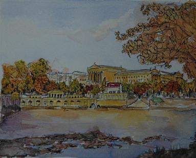 Philadelphia Museum Art and the Waterworks