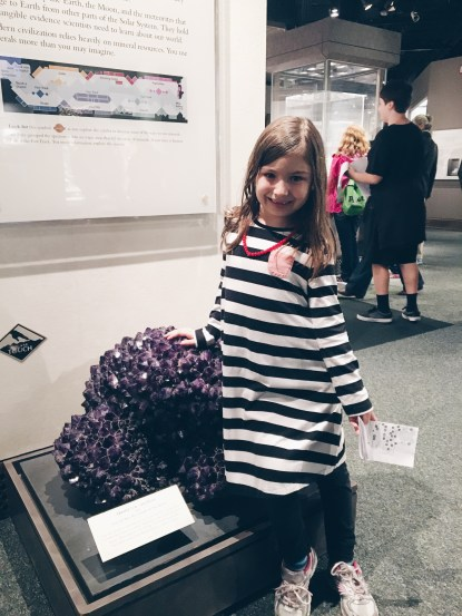 We just completed a month study on minerals, so she was pretty excited to see such a huge piece of amethyst