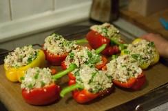 300 gram groenten per dag is de aangewezen hoeveelheid. Deze maaltijd zorgt zeker voor 200 gram.