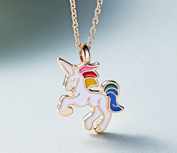 5 GOLD PLATED PINK ENAMEL UNICORN CHARM//PENDANTS~24mm~Bracelet~Necklace 65A