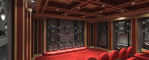 300K Goldmunds Media Room Flaunts 128 Speakers Elite