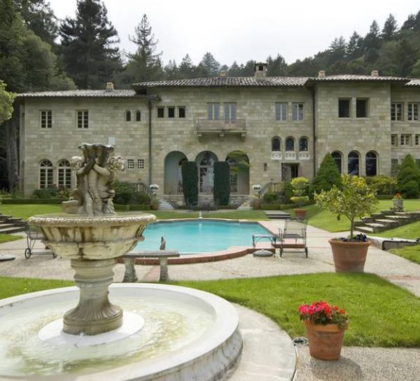 Pool Area of Villa Lauriston Villa Lauriston, the Florentine Mansion in Silicon Valley is Up for Auction