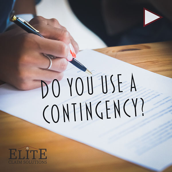 Do you use a contingency?