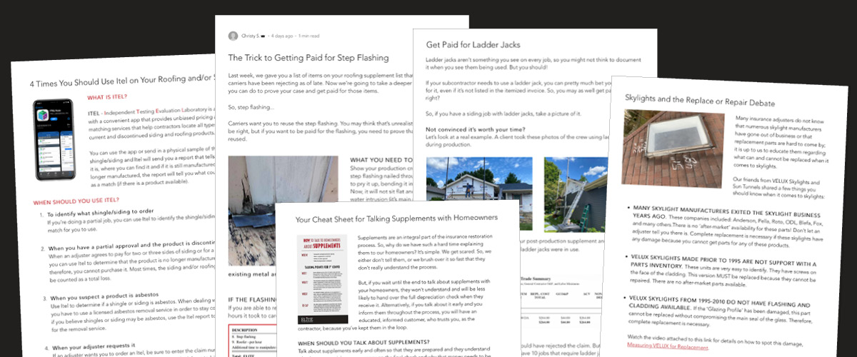Elite blogs are written to help contractors succeed.