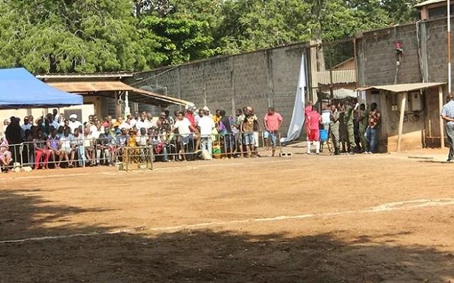 L'entrée de la prison civile de Lomé