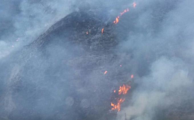 Detenida una mujer por el incendio en un paraje del Sacromonte, en Granada