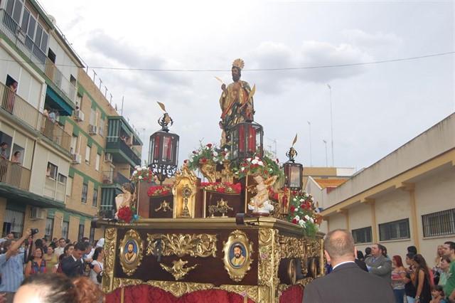 La imagen de San Mateo, el patrón de Alcalá de Guadaíra, procesionará este sábado por las calles