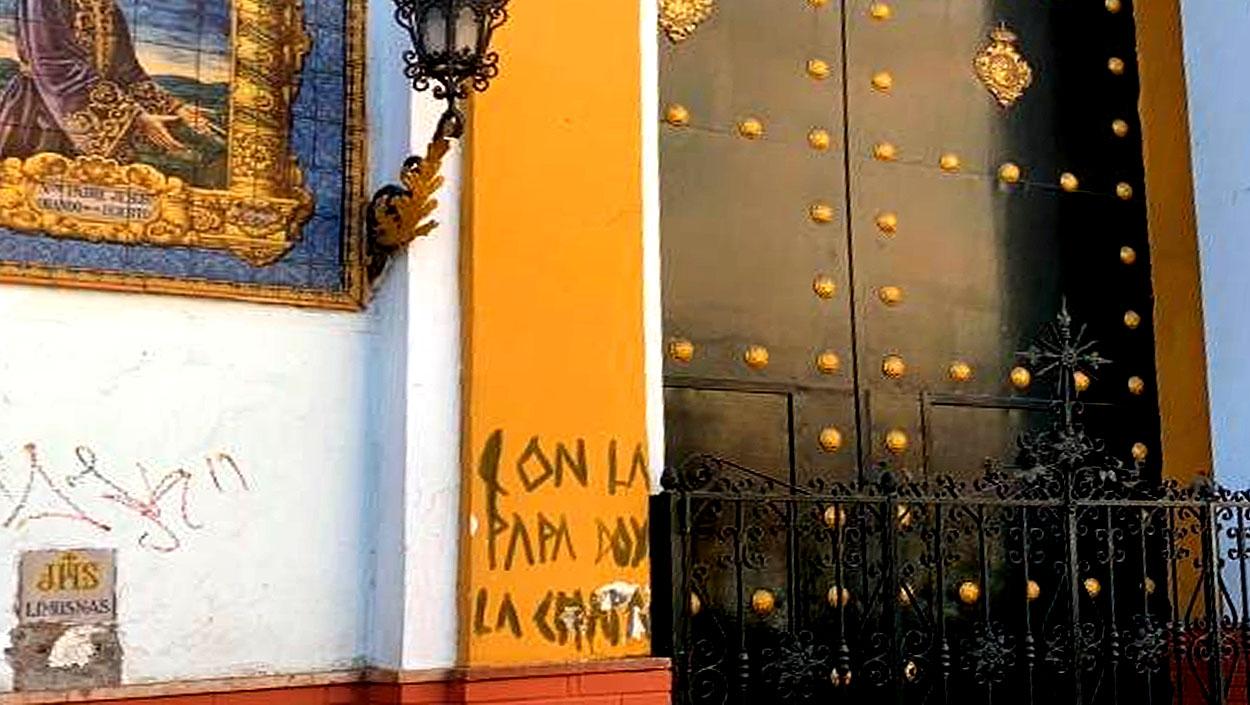 La Hermandad de Monte-Sión denuncia actos vandálicos en la fachada de su capilla