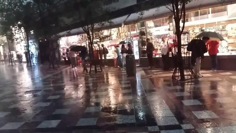 Alerta amarilla por las fuertes lluvias en la ciudad