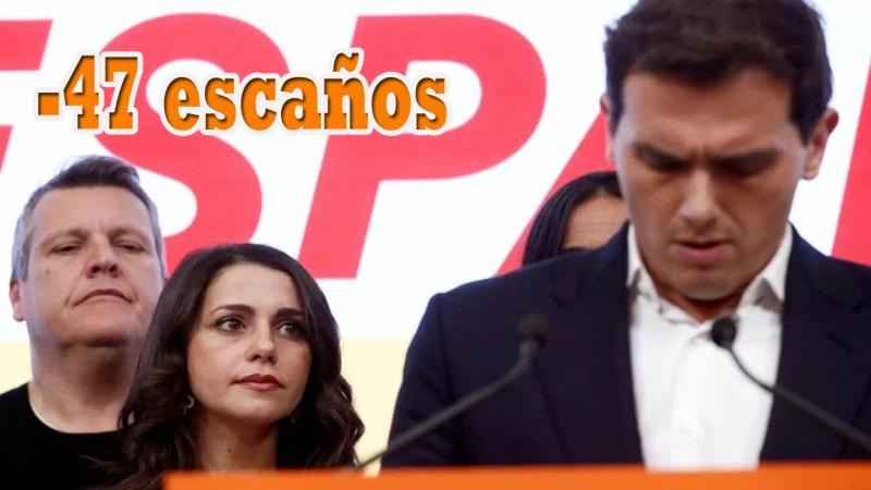 La debacle electoral de Ciudadanos podría sacar a Albert Rivera de su partido