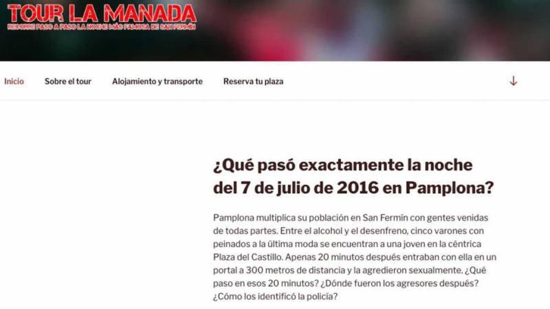 Año y medio de prisión para el creador de la web 'Tour de la Manada'