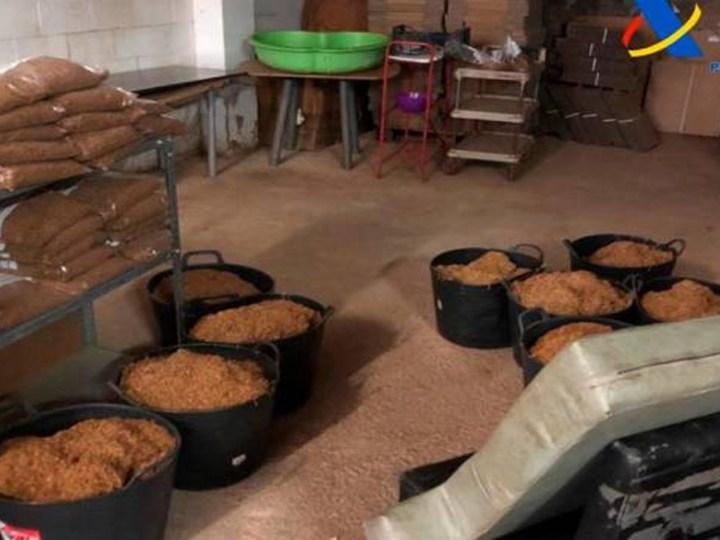 Desarticulan una fábrica ilegal de tabaco en Alcalá de Guadaira