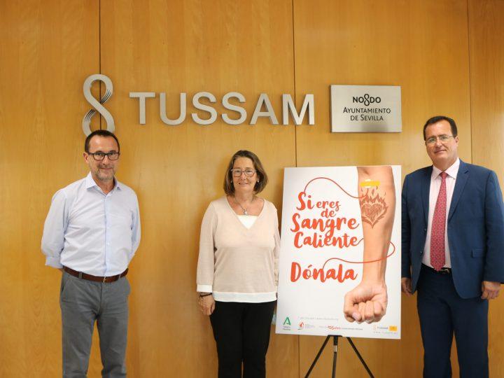 Tussam emitirá una campaña de donación de sangre, tejidos y células en los soportes de la flota