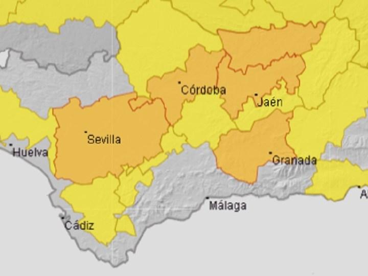 Activado para mañana el aviso naranja por altas temperaturas en Córdoba, Sevilla, Granada y Jaén