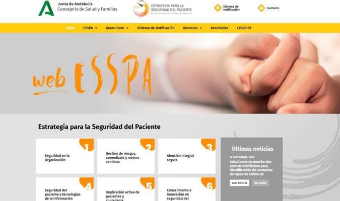 WebESSPA: la plataforma web que vela por la seguridad del paciente en Andalucía