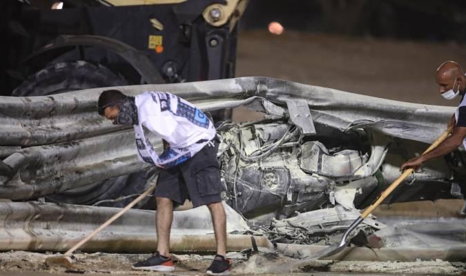 El piloto de F1 Romain Grosjean a punto de morir quemado tras sufrir un accidente en su coche en pleno Gran Premio de Bahréin