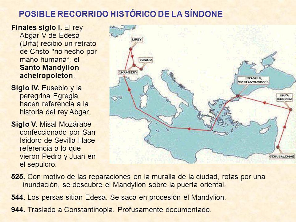 Breve recorrido histórico de la Síndone