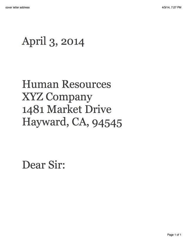 Sle Receptionist Cover Letter