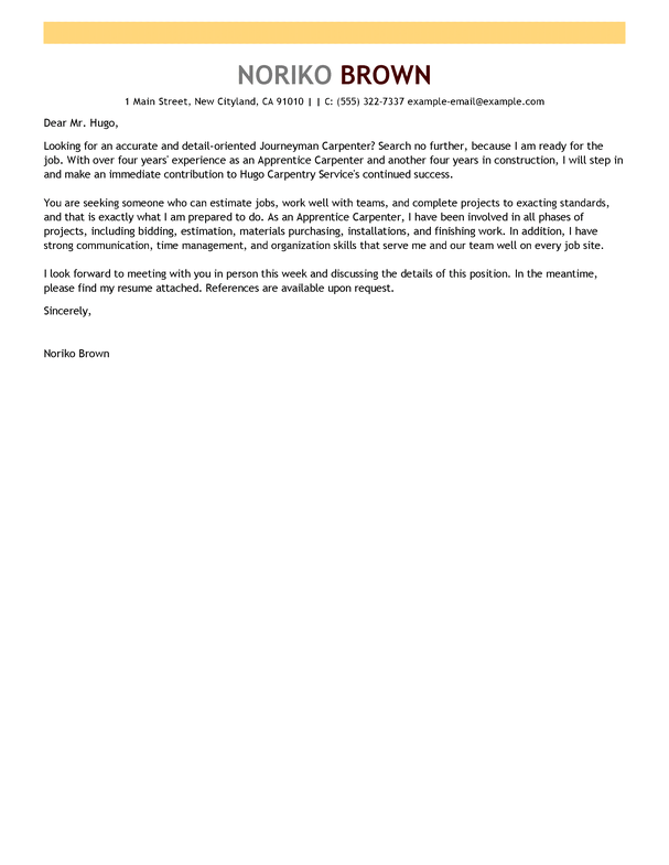 Apprentice Chef Cover Letter Sample June 2021