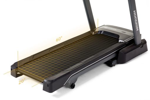 Horizon T7 Treadmill - dimensions
