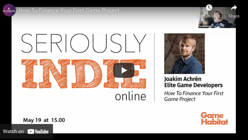 How To Finance Your First Game Project