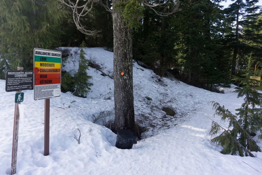 entrance to Cypress back country