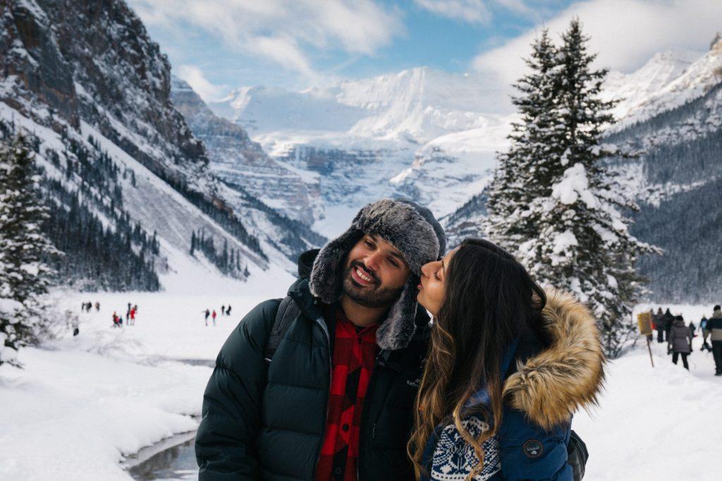 Winter at Lake Louise couples