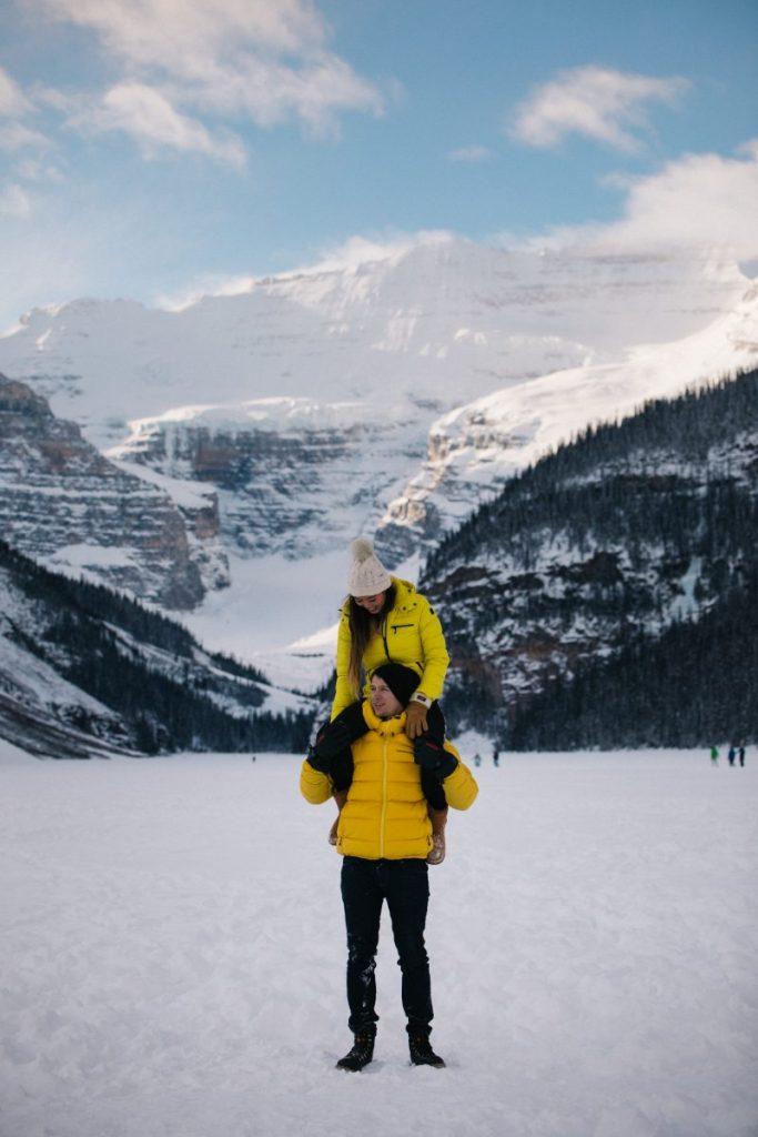 Winter at Lake Louise piggyback