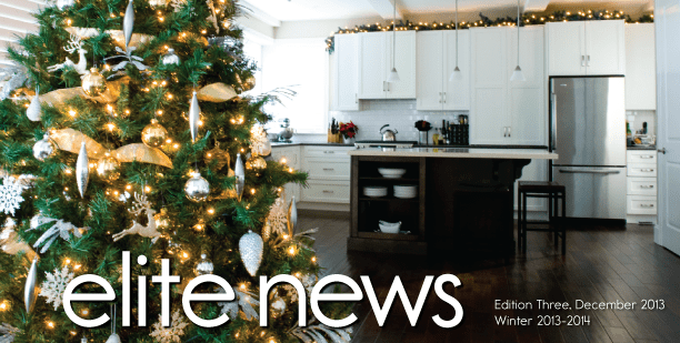 Winter 2013-2014 Newsletter Elite Kitchens and Bathrooms