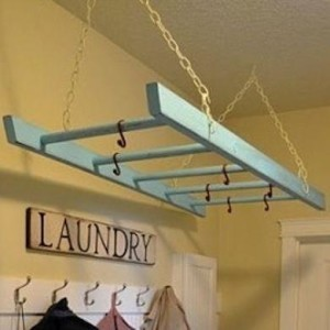 Extra drying racks in a custom laundry room