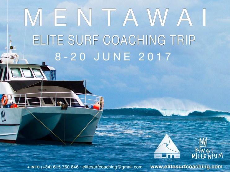 Elite Surf Coaching Mentawai Men's Surf Coaching Trip flyer