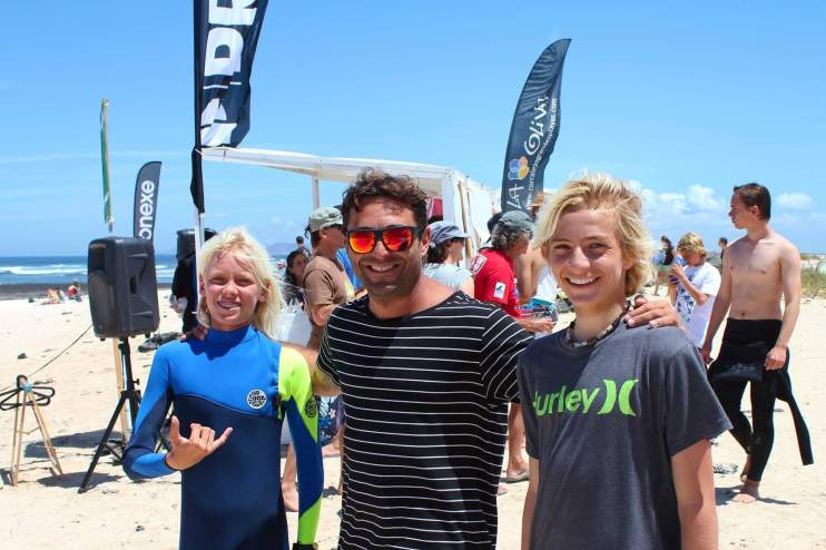 Ivan and grom at surf competition