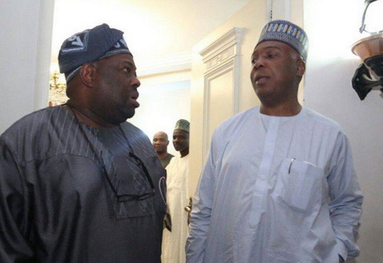 Saraki and Dele Momodu