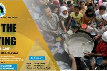 Ambassadors of Iwo land Feed The Fasting