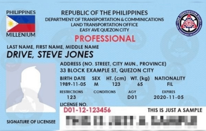 Philippines Driving License