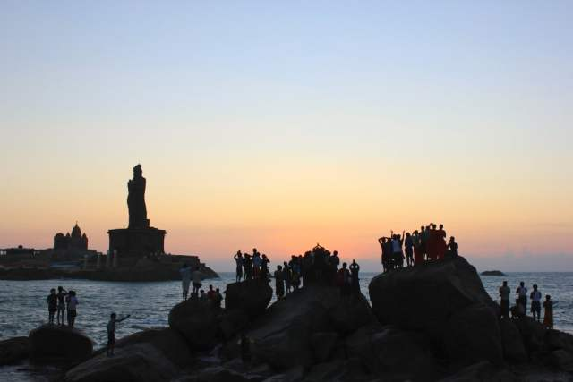 sunrise in Kanyakumari, the southern-most point of mainland India