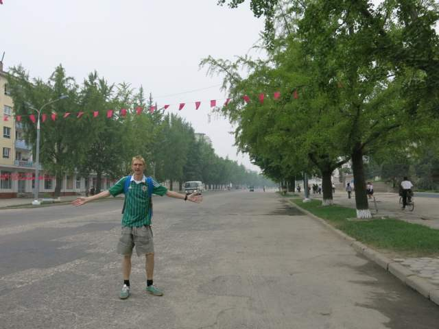 Jonny Blair backpacking in Kaesong - North Korea