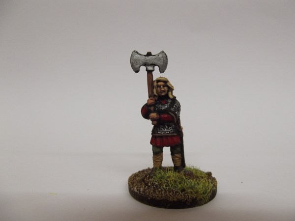 Double handed axe in armour