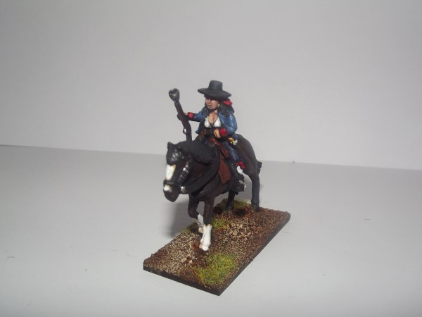 Spanish Guerilla with horse carrying blunderbuss