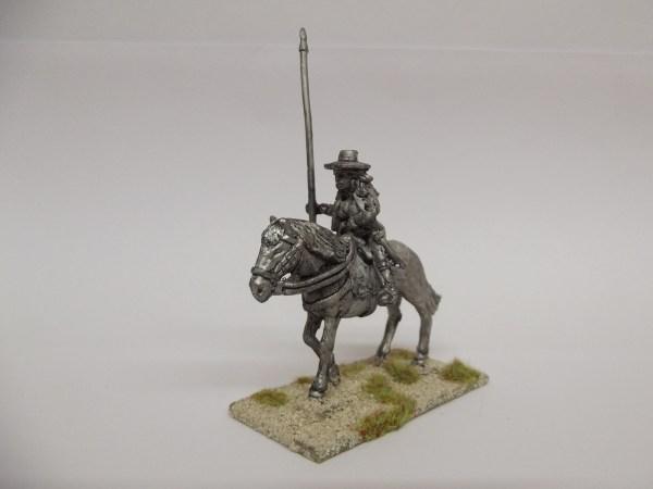 Spanish Guerilla with horse holding lance